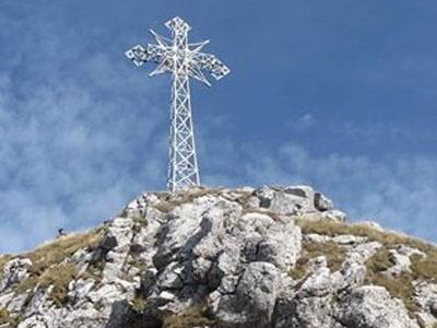 Kříž na vrcholu Giewontu