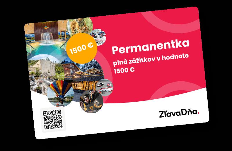Hlavná výhra - Pernamentka na zážitky v hodnote 1500 €